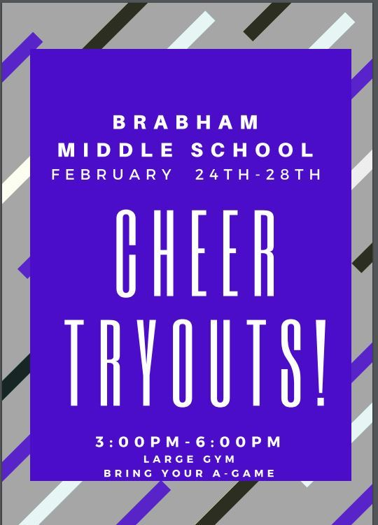 Brabham Cheer Tryouts