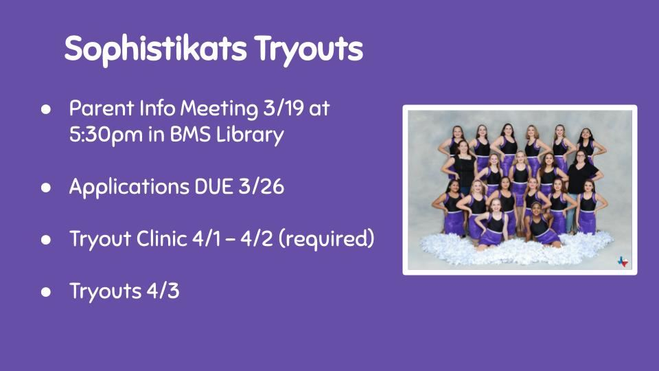 Sophistikats Tryouts