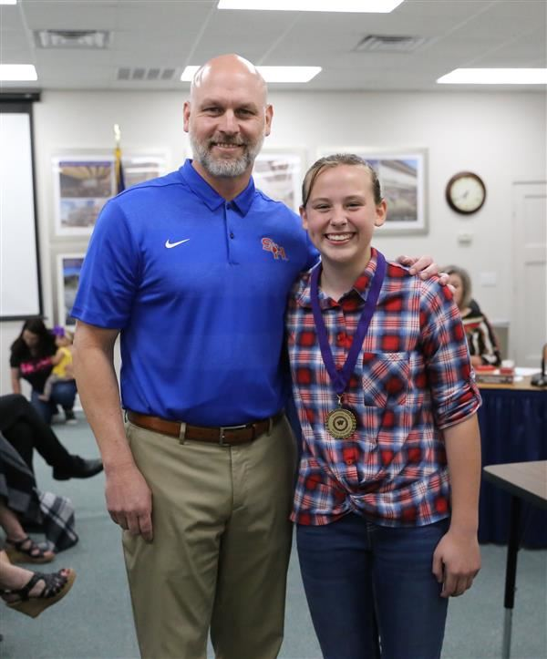 Picture of student Cheyenne Swonke and Tim Harkrider