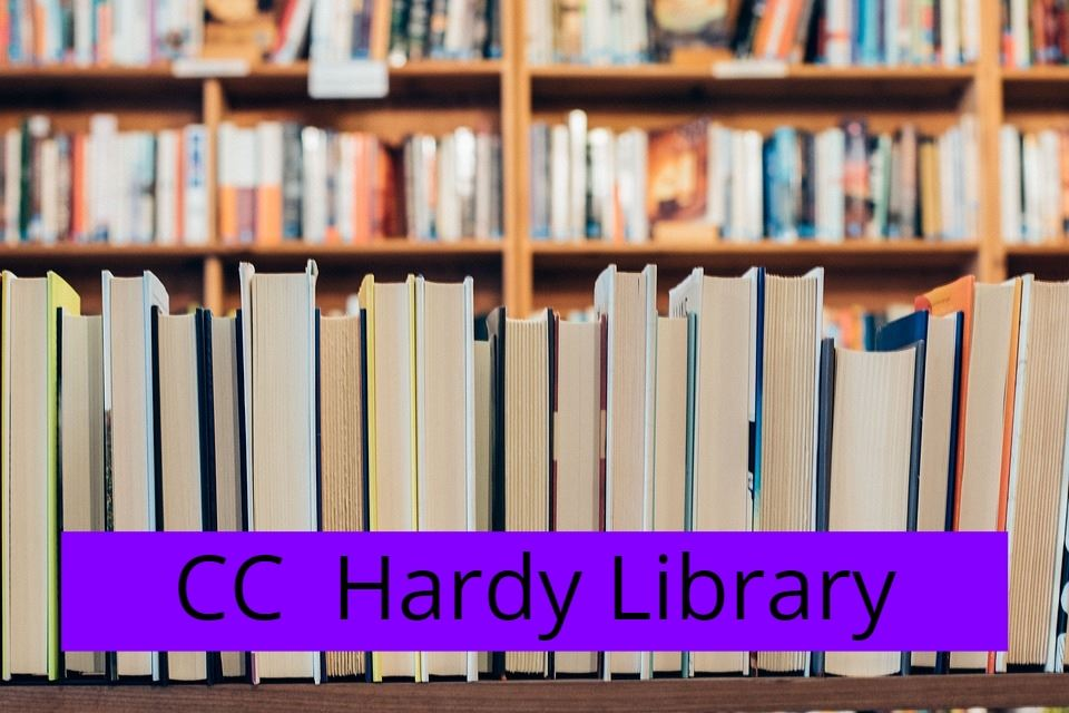 Books with CC Hardy Library text