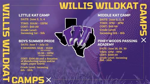 WILLIS WILDKAT CAMPS