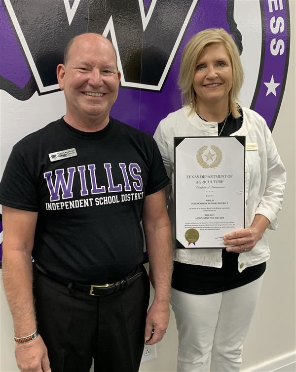 Willis ISD Child Nutrition Department Receives Perfect Score on Texas Department of Agriculture Audit