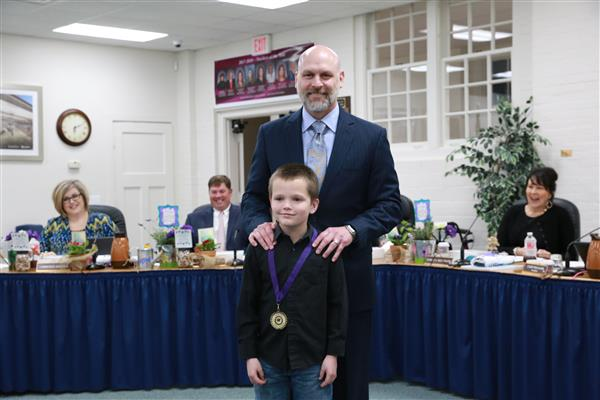 January Elementary Student of the Month- Kevin Olafson