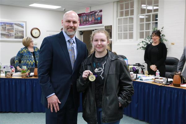 January Secondary Student of the Month- Jazmine Marmorstein