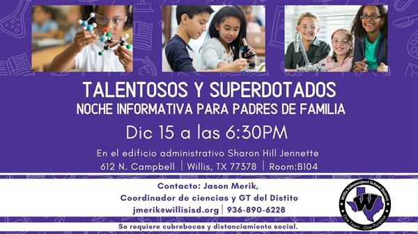 GT Parent Informational Image in Spanish